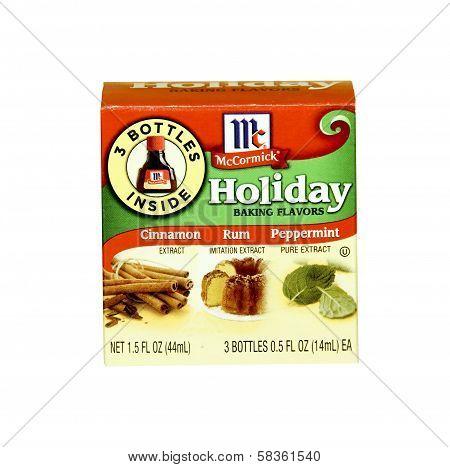 Box Of Mccormick Holiday Baking Flavors