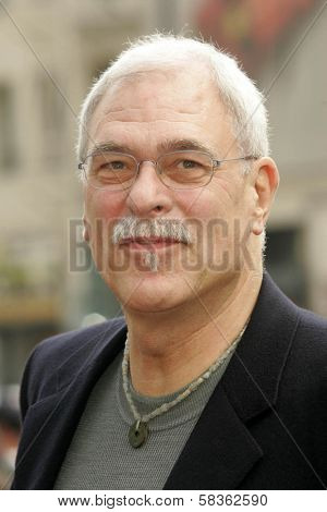 Phil Jackson at the Ceremony Honoring Los Angeles Lakers Owner Jerry Buss with the 2,323rd star on the Hollywood Walk of Fame. Hollywood Boulevard, Hollywood, CA. 10-30-06