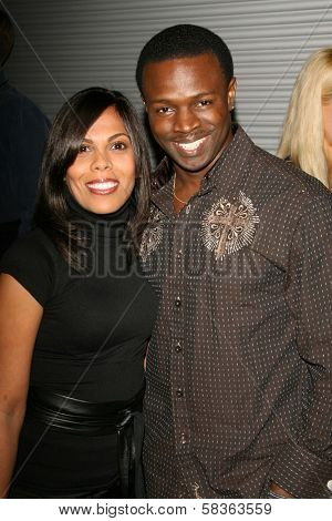 Aonika Laurent and Sean Patrick Thomas at the premiere of
