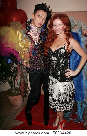 Bobby Trendy and Phoebe Price at the birthday party for Phoebe Price. Private Location, Los Angeles, CA. 10-11-06