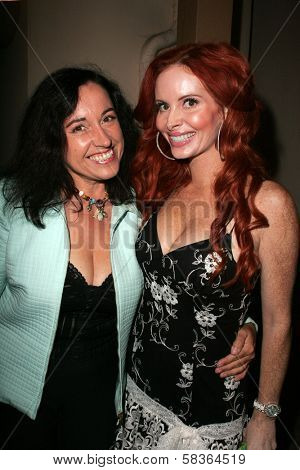 Nina Prommer and Phoebe Price at the birthday party for Phoebe Price. Private Location, Los Angeles, CA. 10-11-06