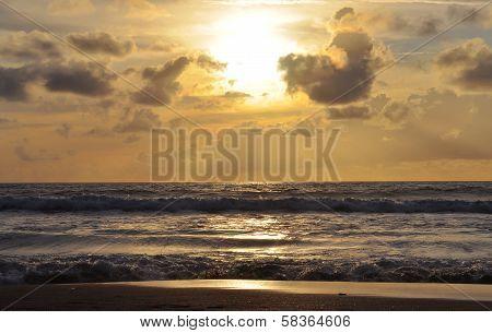 Sunset On Kuta Beach In Bali