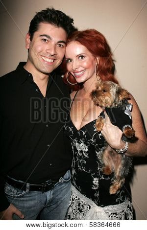 Bill Bakho and Phoebe Price at the birthday party for Phoebe Price. Private Location, Los Angeles, CA. 10-11-06