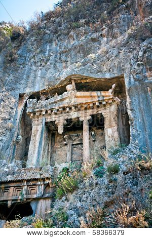 Lycian Tomb cut in mountain