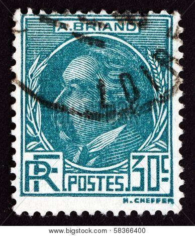 Postage Stamp France 1933 Aristide Briand, Statesman