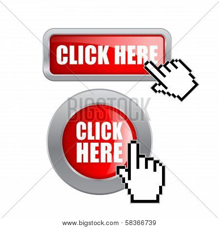 Click here vector buttons