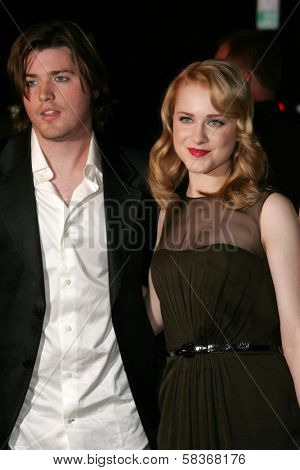 Ira David Wood IV and Evan Rachel Wood at the World Premiere of