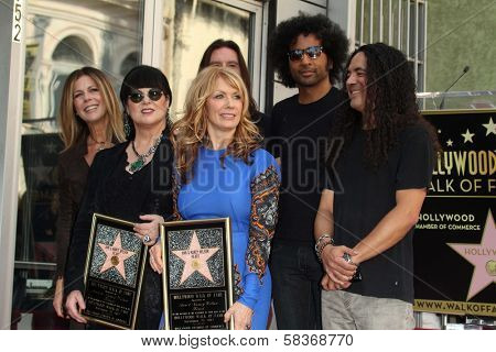 Rita Wilson, Ann Wilson, Nancy Wilson, Alice in Chains at the induction ceremony for Heart into the Hollywood Walk of Fame, Hollywood, CA 09-25-12