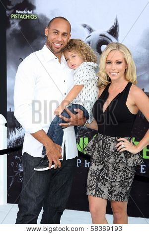 Kendra Wilkinson, husband Hank Baskett and son at the