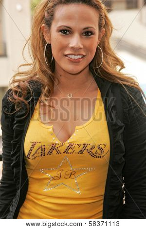 Bonnie Jill Laflin at the Ceremony Honoring Los Angeles Lakers Owner Jerry Buss with the 2,323rd star on the Hollywood Walk of Fame. Hollywood Boulevard, Hollywood, CA. 10-30-06