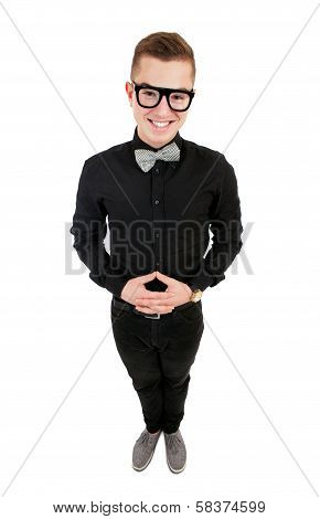 Funny Young Man In Bow Tie