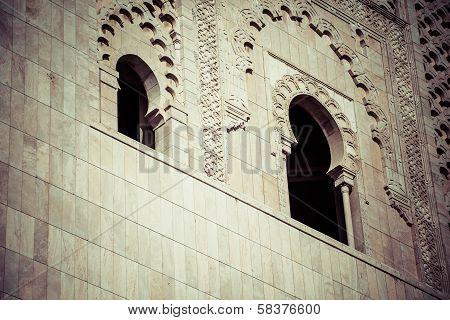 The Mosque Of Hassan Ii In Casablanca, Africa