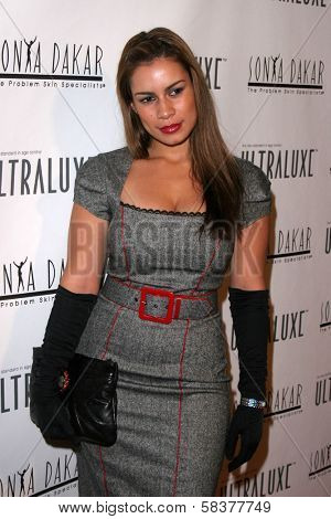 Christine Carlo at the Sonya Dakar Skin Clinic Opening. Sonya Dakar SKin Clinic, Beverly Hills, CA. 10-24-06