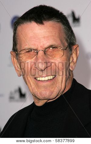 Leonard Nemoy at the Griffith Observatory Re-Opening Galactic Gala. Griffith Observatory, Los Angeles, CA. 10-29-06
