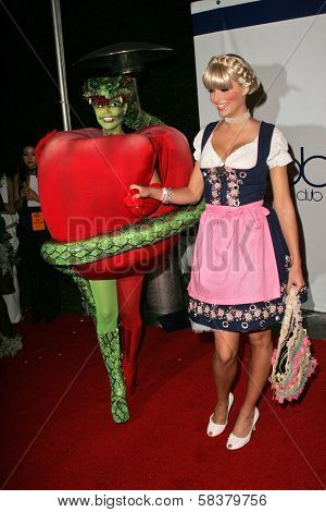 Heidi Klum and Lena Gercke at Heidi Klum's 7th Annual Halloween Party, Privilege, Los Angeles, CA 10-31-06