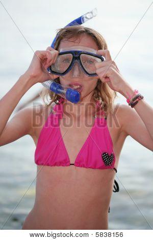 Snorkeling girl