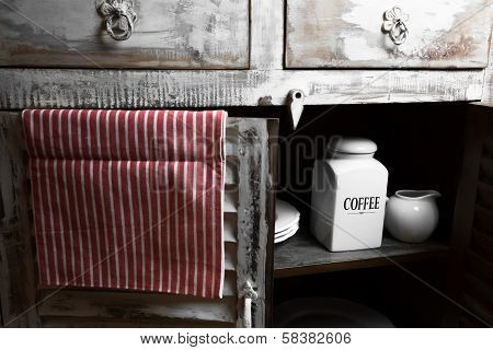 A Rustic Coffee Containers