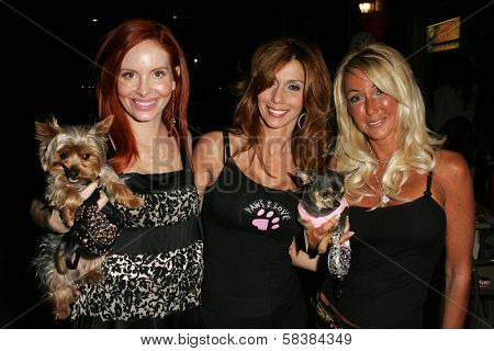 Phoebe Price with Patricia Danieli and Linda Zander of Pawsalove at the first annual Beverly Hills Mutt Club Fashion and Halloween Show, Beverly Hills Mutt Club, Beverly Hills, CA 10-22-06