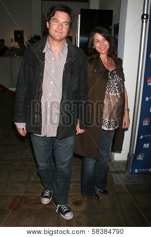 Jason Bateman and Amanda Anka at the NBC fall party for the hit drama