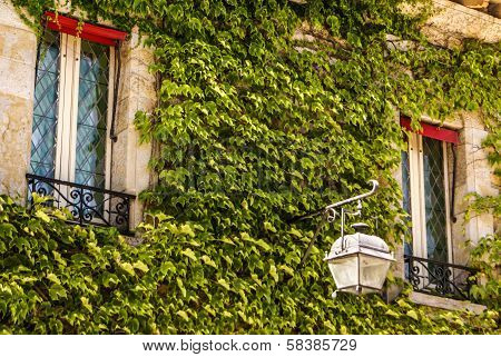 Ancient House In The Medieval City Of Carcassone, Southern France