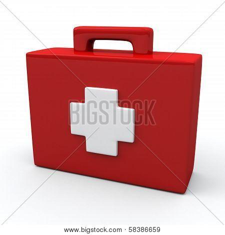 First aid medical kit box, 3d