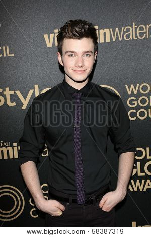 Chris Colfer at the Hollywood Foreign Press Association And InStyle Miss Golden Globe 2013 Party, Cecconi's, Los Angeles, CA 11-29-12