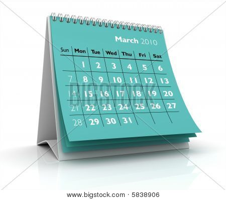 2010 Calendar. March