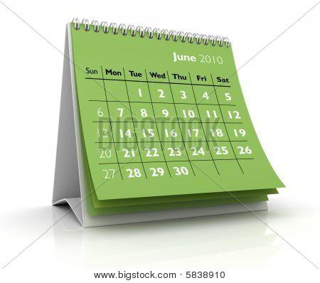 2010 Calendar. June
