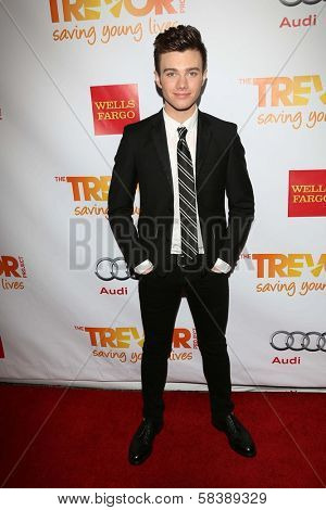 Chris Colfer at the 2012 Trevor Project Live, Palladium, Hollywood, CA 12-02-12
