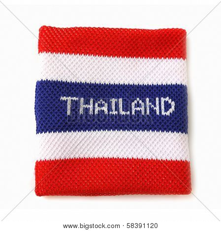 Wristband With Thailand Flag Pattern