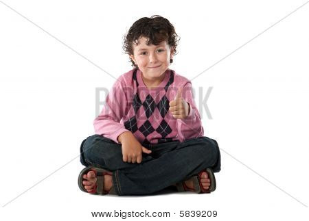 Child With His Finger Saying Ok