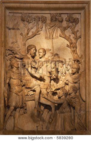 Roman Marcus Aurelius Sculpture Capitoline Museum Rome Italy