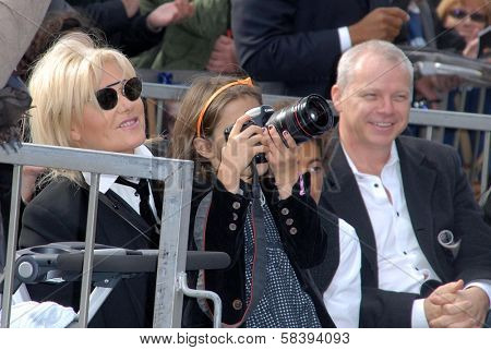 Deborra-Lee Furness and daughter Ava Eliot at the Hugh Jackman Star on the Hollywood Walk of Fame Ceremony, Hollywood, CA 12-13-12