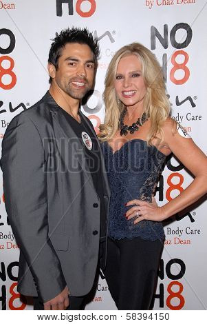Eddie Judge and Tamra Barney at the NOH8 Campaign 4th Anniversary Celebration, Avalon, Hollywood, 12-12-12