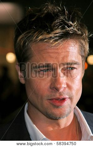 WESTWOOD, CA - NOVEMBER 05: Brad Pitt at a Special Presentation of