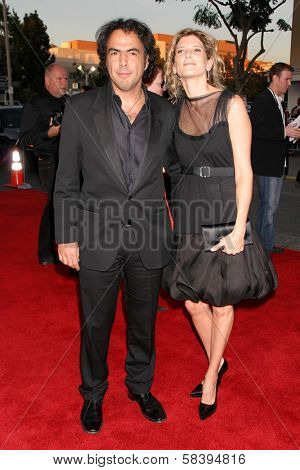 WESTWOOD, CA - NOVEMBER 05: Alejandro Gonzalez Inarritu and friend at a Special Presentation of