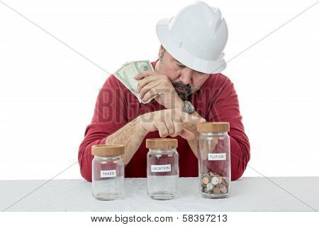 Construction Worker Decides Over The Use Of Money