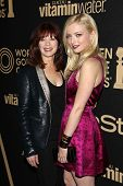 Frances Fisher and Francesca Eastwood at the Hollywood Foreign Press Association And InStyle Miss Go