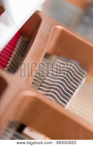 Close up of piano chords. Concept of music and arts