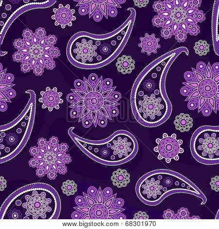 seamless pattern with Turkish cucumbers and flowers