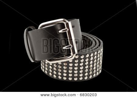 Black Studded Trendy Fashion Belt