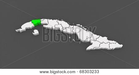 Map of Artemis. Cuba. 3d
