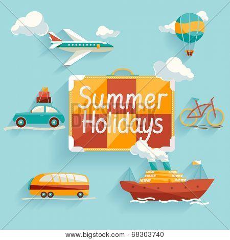 Flat design. Summer holiday.