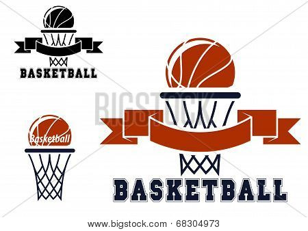 Basketball emblems and symbols
