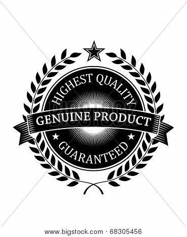 Highest Quality Guaranteed Genuine label