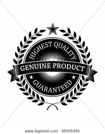 Highest Quality Guaranteed Genuine label