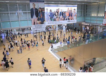 Busy Japanese life Nagoya JR Station Japan