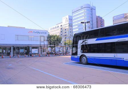 JR Highway Bus terminal Nagoya Japan