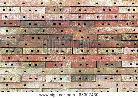 Stack Iron Rusty Plate