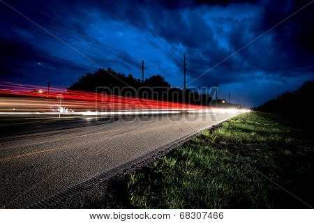 Car Light Trails